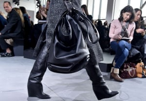 Leather wedge-heeled boots.