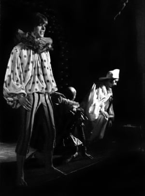 David Bowie with Lindsay Kemp and Jack Birkett in Pierrot in Turquoise