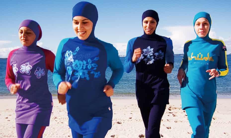 Women in burkinis on Cronulla Beach, Sydney, Australia