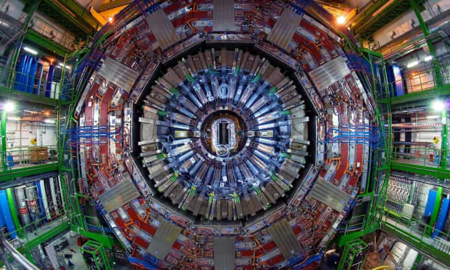 The Compact Muon Solenoid, one of two large general-purpose particle physics detectors built on the Large Hadron Collider at Cern in Switzerland and France. China plans to build a supercollider at least twice as big.