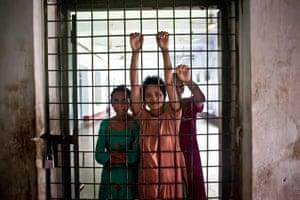 Patients at a mental health hospital in Bangladesh