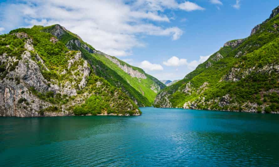 Accidentally lovely: Lake Koman, formed after a dam was built.