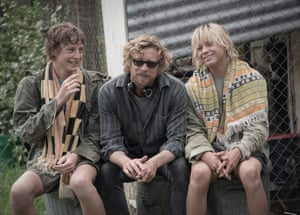 Simon Baker with Samson Coulter and Ben Spence