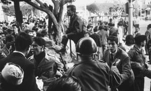French armed forces suppress an uprising in Algeria