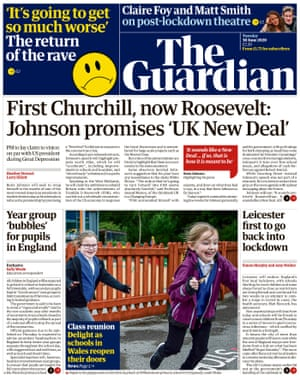 Guardian front page, 30 June 2020
