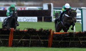 Buveur D'Air clears the final flight on his way to winning the Fighting Fifth Hurdle at newcastle last year.