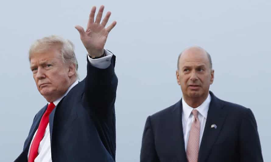 Trump and Sondland in Brussels together last year.