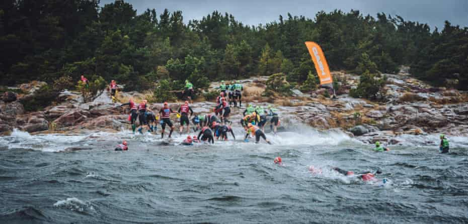 The ötillö, 75km of swimming and running in tough conditions.