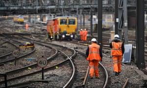 uk rail system engineering works
