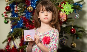 Florence Widdicombe, 6, who found the inmates' plea for help in a Tesco Christmas card at her home in Tooting, south London.