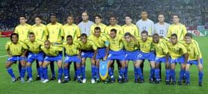 روکه جونیور و هم تیمی های برزیلی اش در جام جهانی 2002.
