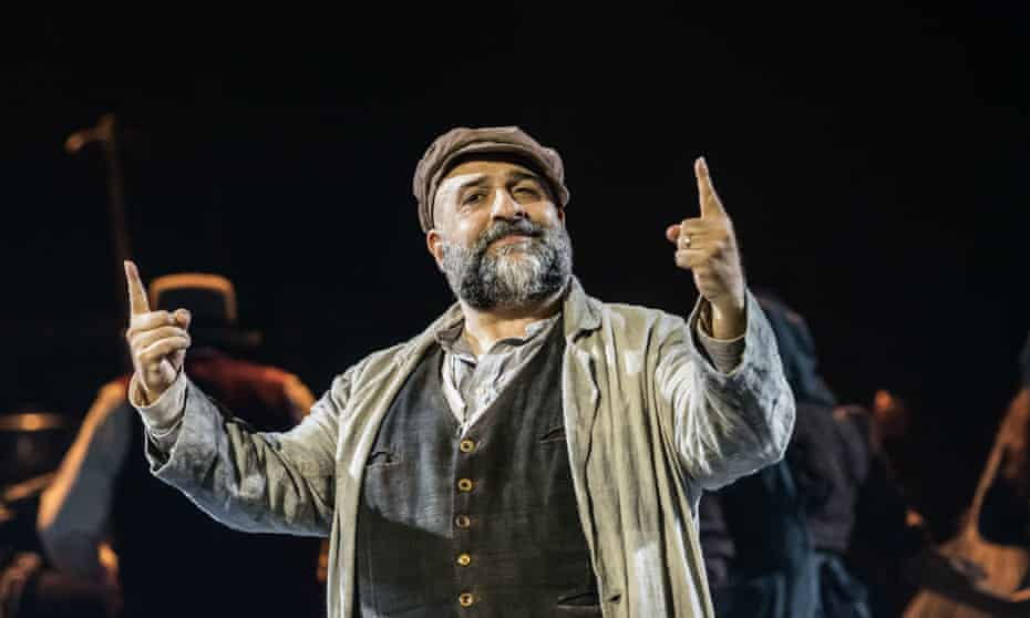 Omid Djalili as Tevye the milkman in Fiddler on the Roof.