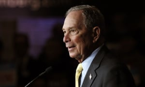 Michael Bloomberg talks to supporters in Detroit on 4 February 2020.