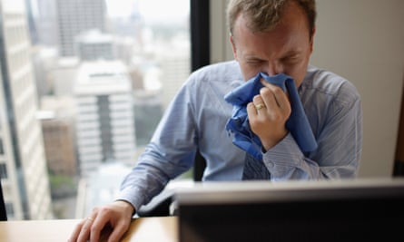 Soldiering on: take sick leave and you could be downgraded or sacked.