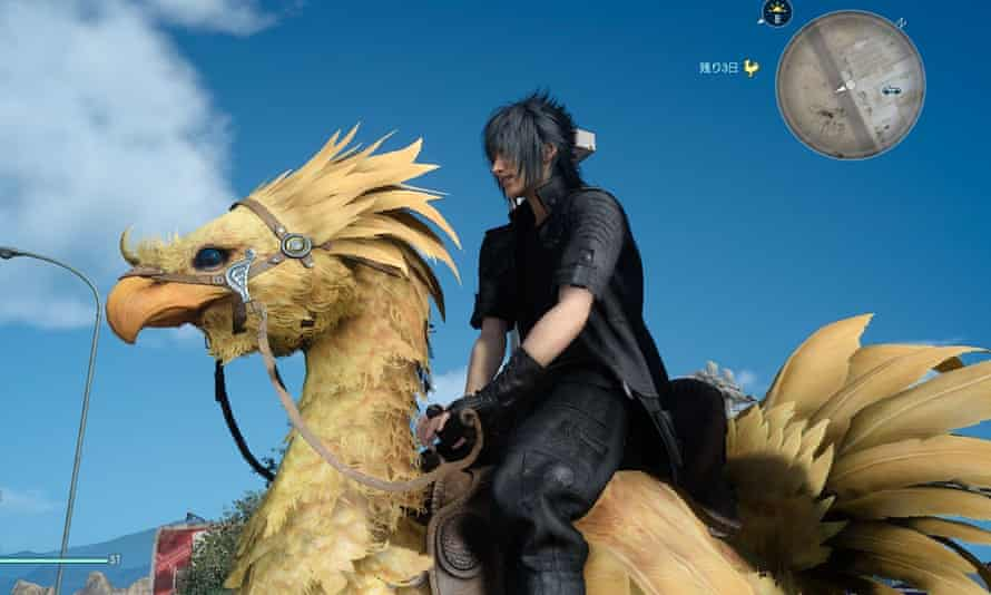 Look at this majestic beast. Also, the chocobo he's riding is quite sweet.