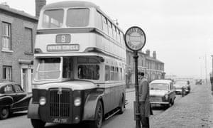 A bus in Birmingham on 27 December 1959