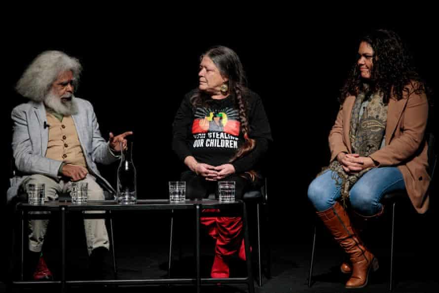 Jack Charles, Vickie Roach and Jacinta Nampijinpa Price