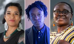(from left) Olumide Popoola, Jay Bernard, Jennifer Nansubuga.