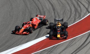 Sebastian Vettel's clash with Daniel Ricciardo sent him into a spin that took him right down the field at the US Grand Prix