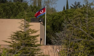 North Korean's embassy in Madrid was raided by 10 people in February.