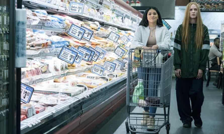 Gina Rodriguez and Evan Rachel Wood in Kajillionaire.