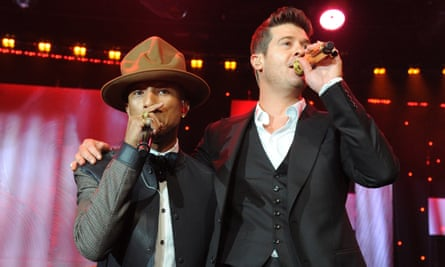 So appealing … Pharrell Williams and Robin Thicke.