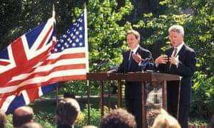 Tony Blair and Bill Clinton in 1997.