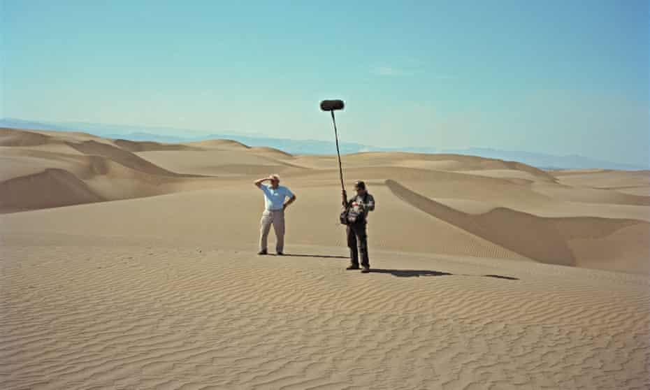 David Attenborough filming the BBC series Africa in the Suguta Valley, northern Kenya