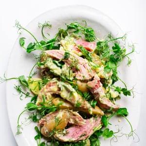 Potato and ham hock salad.