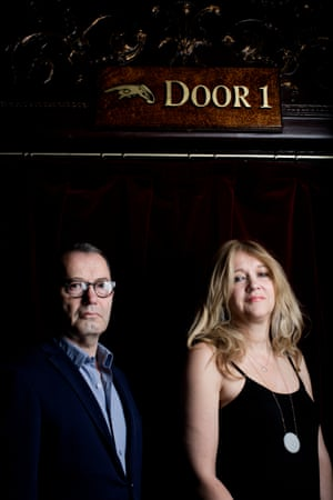Sonia Friedman and Colin Callender at the Palace.