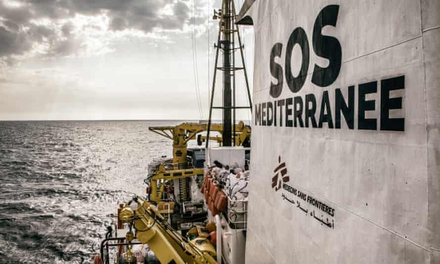 The migrant rescue ship the Aquarius