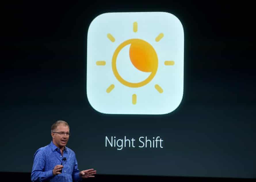 Apple's Gregory Joswiak presents Night Shift.