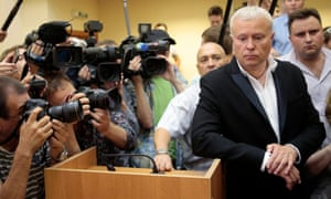 Alexander Lebedev in 2013, after being ordered to do community service for punching a rival on Russian TV