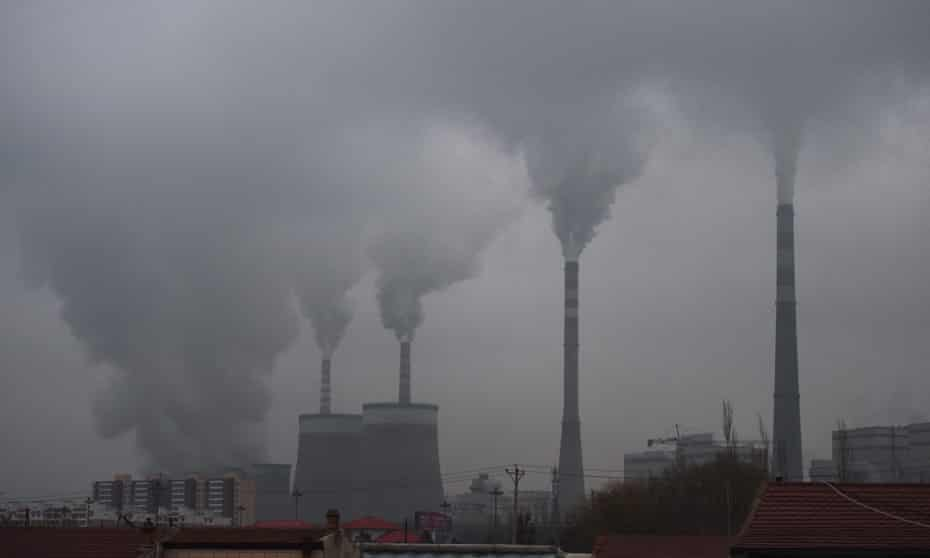 Smoke from a coal-fuelled power station in China