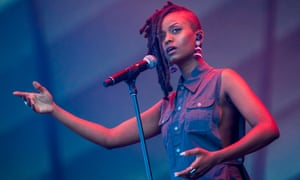 Kelela performs in Quebec City, Canada, July 2017