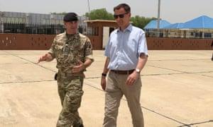 Foreign secretary Jeremy Hunt visits a food distribution centre in Maiduguri, Nigeria.