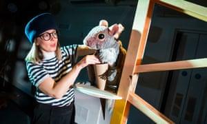 An unusual, chic production … Caroline Garland in Squirrel.