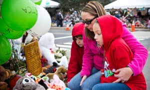 A memorial for those killed in the Sandy Hook shooting. Newly released documents suggest Adam Lanza may have begun planning the attack more than a year in advance.