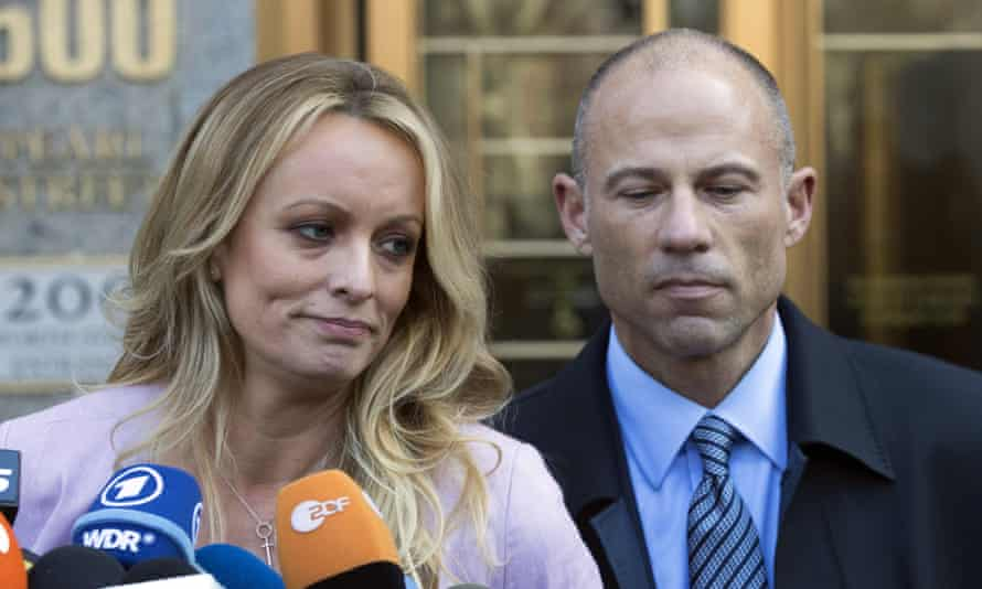Michael Avenatti, right, represented Stormy Daniels, left, in her legal battles against Donald Trump.