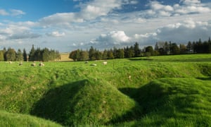 Remains of trenches at Newfoundland Memorial Park, Beaumont-Hamel.