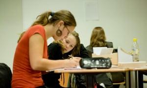 Les étudiants de l'école évangélique de Berlin.