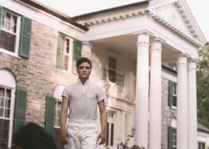 Elvis Presley at Graceland circa 1957.