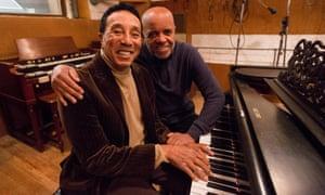 Magic men … Smokey Robinson, left, and Berry Gordy at Hitsville, USA.