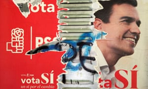 Campaign poster for PSOE featuring Pedro Sánchez