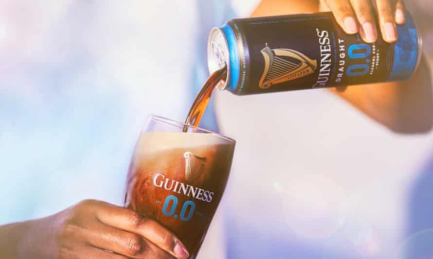 Guinness being poured into glass