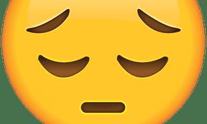 sad-face emoji