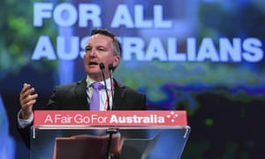 Chris Bowen at the Labor national conference