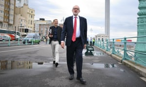 Seumas Milne and Jeremy Corbyn in Brighton
