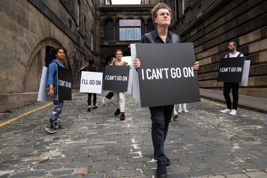I Can't Go On, I'll Go On … Alfredo Jaar with his Beckett-inspired installation at Edinburgh art festival: