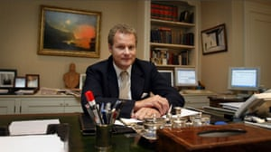 Lord Rothermere in his Kensington office